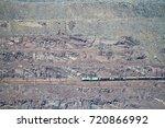 Small photo of Goods train on the iron ore opencast mine. Krivoy Rog, Ukraine