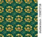 seamless pattern halloween... | Shutterstock .eps vector #720873718