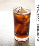 black soft drink in glass with... | Shutterstock . vector #720874162