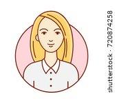 female portrait. avatar woman... | Shutterstock .eps vector #720874258
