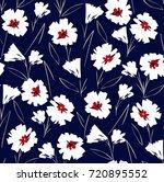 seamless vintage floral pattern ...   Shutterstock .eps vector #720895552