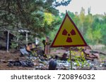a sign of a radioactive hazard | Shutterstock . vector #720896032