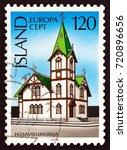 iceland   circa 1978  a stamp... | Shutterstock . vector #720896656