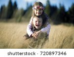 brother and sister | Shutterstock . vector #720897346