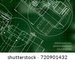mechanical engineering drawing. ... | Shutterstock .eps vector #720901432