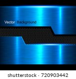 metal background  blue polished ... | Shutterstock .eps vector #720903442