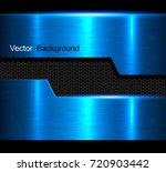 metal background  blue polished ... | Shutterstock .eps vector #720903442