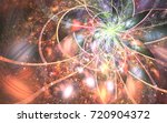 abstract fractal patterns and... | Shutterstock . vector #720904372