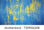 old blue grunge backgound... | Shutterstock . vector #720906208