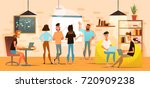 concept of the coworking center.... | Shutterstock .eps vector #720909238