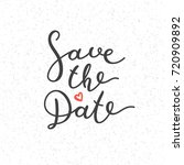save the date lettering  vector ... | Shutterstock .eps vector #720909892