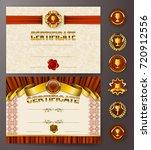 set of elegant templates of... | Shutterstock .eps vector #720912556