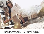 on the way to meeting.... | Shutterstock . vector #720917302