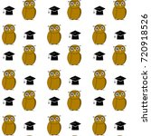 education pattern with owl and... | Shutterstock . vector #720918526