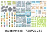 set of landscape elements.... | Shutterstock .eps vector #720921256