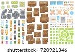 set of landscape elements.... | Shutterstock .eps vector #720921346