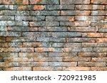 grunge brown brick wall texture.... | Shutterstock . vector #720921985