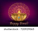 indian festival diwali... | Shutterstock .eps vector #720929065