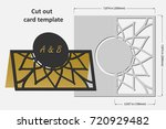 template cards to cut. topper.... | Shutterstock .eps vector #720929482