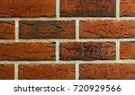 texture of natural brick.... | Shutterstock . vector #720929566