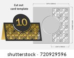 template cards to cut. topper.... | Shutterstock .eps vector #720929596