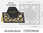 template cards to cut. topper.... | Shutterstock .eps vector #720929626