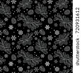 seamless pattern christmas tree ... | Shutterstock .eps vector #720931612