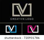 letter v logo vector with square | Shutterstock .eps vector #720931786
