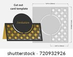 template cards to cut. topper.... | Shutterstock .eps vector #720932926