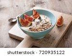 healthy breakfast. muesli ... | Shutterstock . vector #720935122