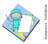 cartoon surgeon showing a... | Shutterstock .eps vector #720938236