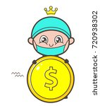 cartoon surgeon showing a... | Shutterstock .eps vector #720938302