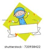 cartoon surprised surgeon with... | Shutterstock .eps vector #720938422