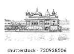 sketch of golden temple... | Shutterstock .eps vector #720938506