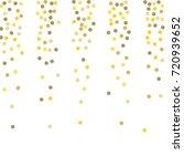 falling golden confetti points. ... | Shutterstock .eps vector #720939652