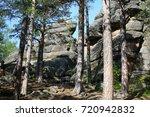 huge rocks in the forest.... | Shutterstock . vector #720942832