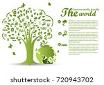 environmentally friendly world... | Shutterstock .eps vector #720943702