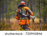Hunter In The Fall Hunting...