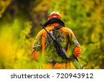 hunter in the fall hunting... | Shutterstock . vector #720943912