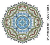 mandala flower decoration ...   Shutterstock .eps vector #720944056