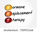 hrt   hormone replacement... | Shutterstock .eps vector #720951166