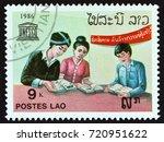 laos   circa 1986  a stamp... | Shutterstock . vector #720951622
