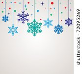 christmas background template | Shutterstock .eps vector #72095269