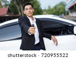 male adult businessman in a... | Shutterstock . vector #720955522