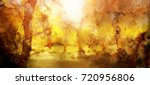 abstract painting of colorful... | Shutterstock . vector #720956806