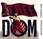 freedom propaganda. isolated... | Shutterstock .eps vector #720961168