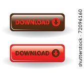 download buttons   brown and red | Shutterstock .eps vector #72096160