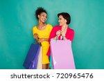 happy multiethnic girlfriends
