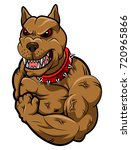 angry dog mascot cartoon.... | Shutterstock .eps vector #720965866