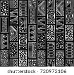 seamless pattern. black and... | Shutterstock . vector #720972106